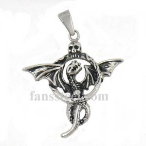 FSP16W11 flying dragon with skull on the head pendant
