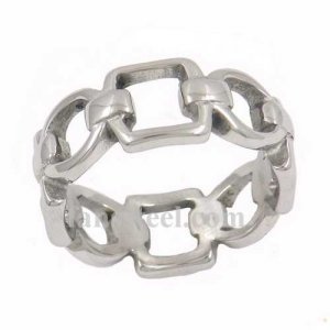 FSR12W02 Square oval rope Chain band Ring