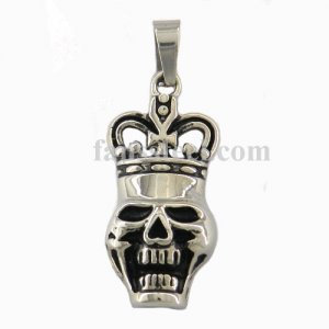 FSP15W65 ghost skull with crawn pendant FSP15W65
