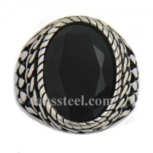 FSR13W42 dot chain rope around the black stone ring