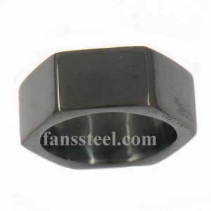 FSR13W51B Hexagon sixangles Square band ring