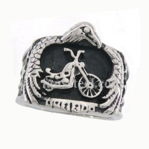 FSR09W88 Eagle hold the motor cycle biker ring