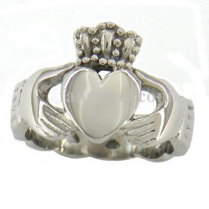 FSR06W00 Celtic Infinity Love Heart Princess Crown Claddagh Friendship Ring