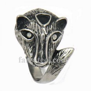 FSR09W46 fox animal ring