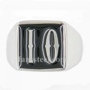 IO01 custom made 2 letters initials enamel name ring custom ring need 3-10days to be shipped