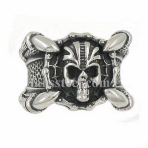 FSR14W01 Four Claw hold motorcycle chain retro skull biker ring