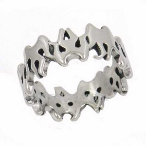 FSR14W07 flame link band Ring
