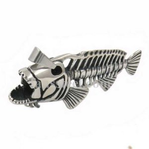 FSP17W65 Fish skeleton pendant