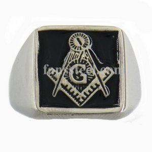 FSR09W69 blue house Master Mason masonic ring
