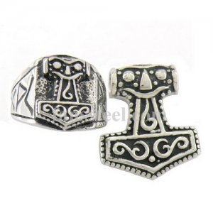 thor hammer Ring and pendant sets FST00W04