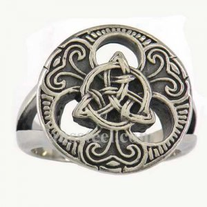 FSR11W69 classic Celtic flower nature ring