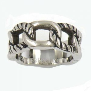 FSR11W98 rope chain plain band ring