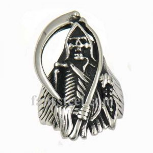 FSR12W25 gream reaper hook skull biker ring