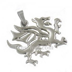 FSP07W49 Stainless SteelJEWELRY Chinese Kylin animal pendant