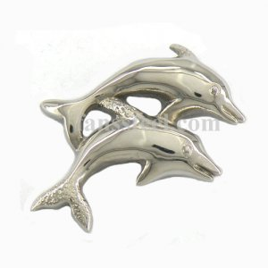 FSP03W77 double jumping fish pendant