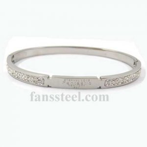 FSPRB34 crystal inlay heart BANGLE