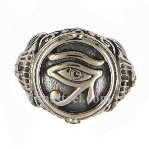 FSR13W84 gods miracle eye masonic ring