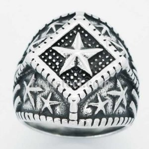 FSR14W62 five-pointed star ring