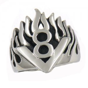 FSR12W17 flame V 8 biker Ring
