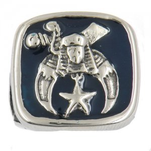 FSR11W39BL custom made enamel shriner masonic Ring