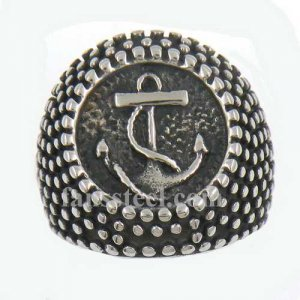 FSR13W54 dot around marine anchor navy seaman sailor ring