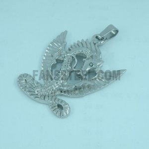 FSP00W87 pendant Fire Dragon Wings Chinese Zodiac Sign Pendant