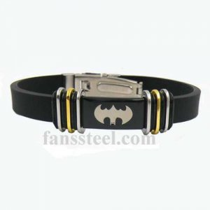 FSB00W52 Stainless steel mens wemens jewelry bat bracelet gift for borthers sisters