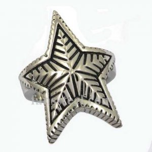 FSR12W79 pentagon star leaf Ring