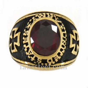 FSR11W31GR United states Army American Cross military ring RED CZ