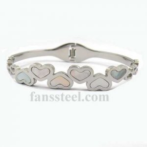 FSPRB31 shell inlay heart love BANGLE springs can be opened