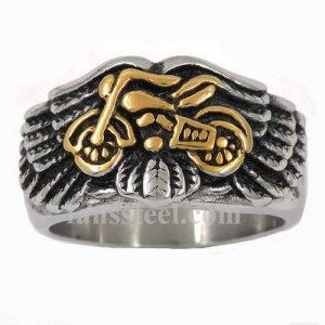 FSR10W98G Gold plating motor cycle on the wing biker ring