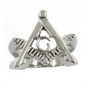 FSR12W35 freemasonary square and ruler masonic ring