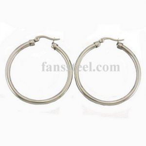 shiny hollow hoop earring thickness 4mm diameter 50mm FSE14PR14