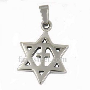 FSP17W04 Cross david star Pendant