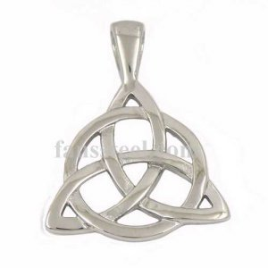 FSP17W66 Irish Triangle Celtic Knot Triquetra Circle of Life pendant
