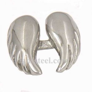 FSR08W13 Guardian Angel Wings Medallion Ring