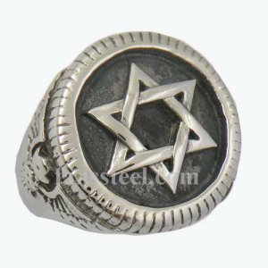 FSR12W72 eagle scout star ring