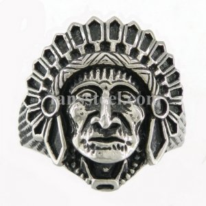 FSR07W67 Indian Tribal Chief Medallion Ring