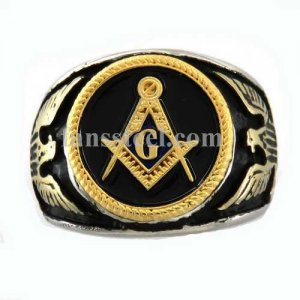 MBLR0017 custom made gold plating eagle scout Master mason masonic ring need 3-11 days to be shipped
