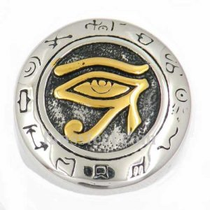 FSR13W14G Egyptian miracle gods all seeing eye masonic ring