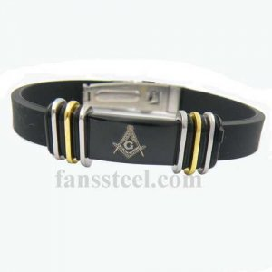 FSB00W50 Stainless steel mens wemens jewelry free masonary master mason masonic bracelet gift for borthers sisters