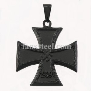 FSP16W77B Black plating German iron cross 1939 military pendant FSP16W77B