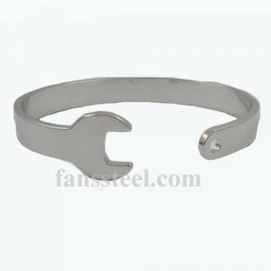 FSB00W55 Stainless steel mens wemens jewelry motor cycle repairing tool wrench spanner biker bangle