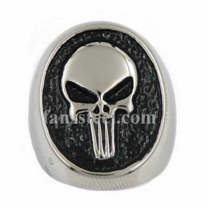 FSR13W98 Long teeth willy G skull ring