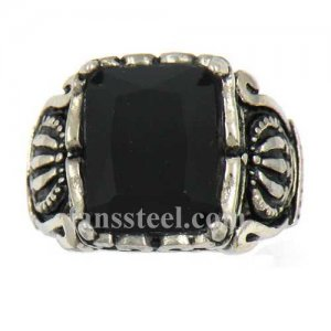 FSR13W39 crown claw with black stone ring