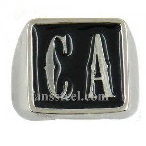 CA01 custom made 2 letters initials enamel name ring custom ring need 3-10days to be shipped