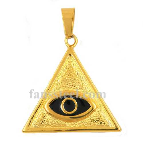 Fsp17w12gb stainless steel jewelry gods eye all seeing eye pendantg fsp17w12gb gods eye all seeing eye pendant mozeypictures Images
