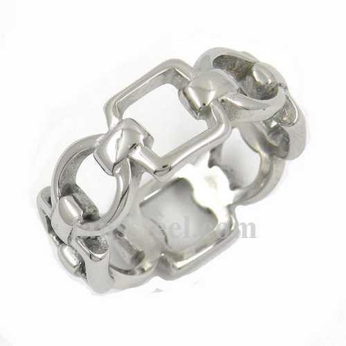 FSR12W02 Square oval rope Chain band Ring - Click Image to Close