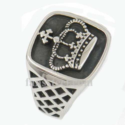 FSR12W64 Christ cross crown ring - Click Image to Close