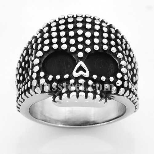 FSR14W31 dot skull ring - Click Image to Close